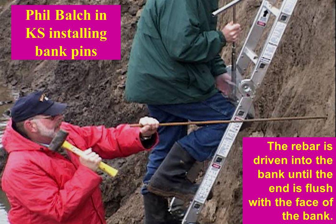 Phil Balch in KS installing bank pins