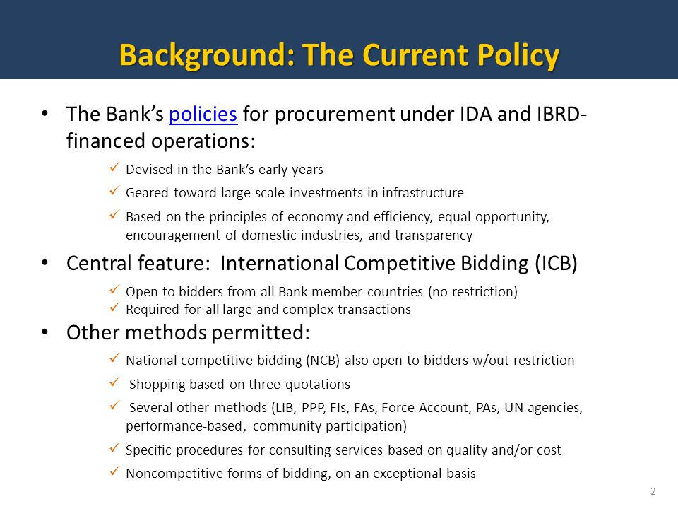 Background: The Current Policy