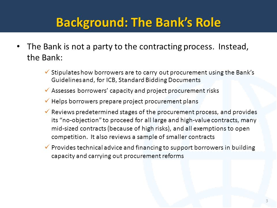 Background: The Bank's Role