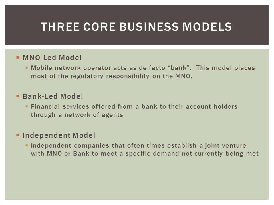 Three Core Business Models