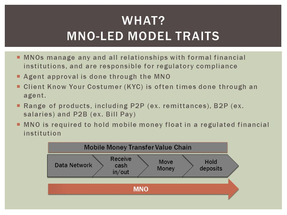 What MNO-Led Model traits