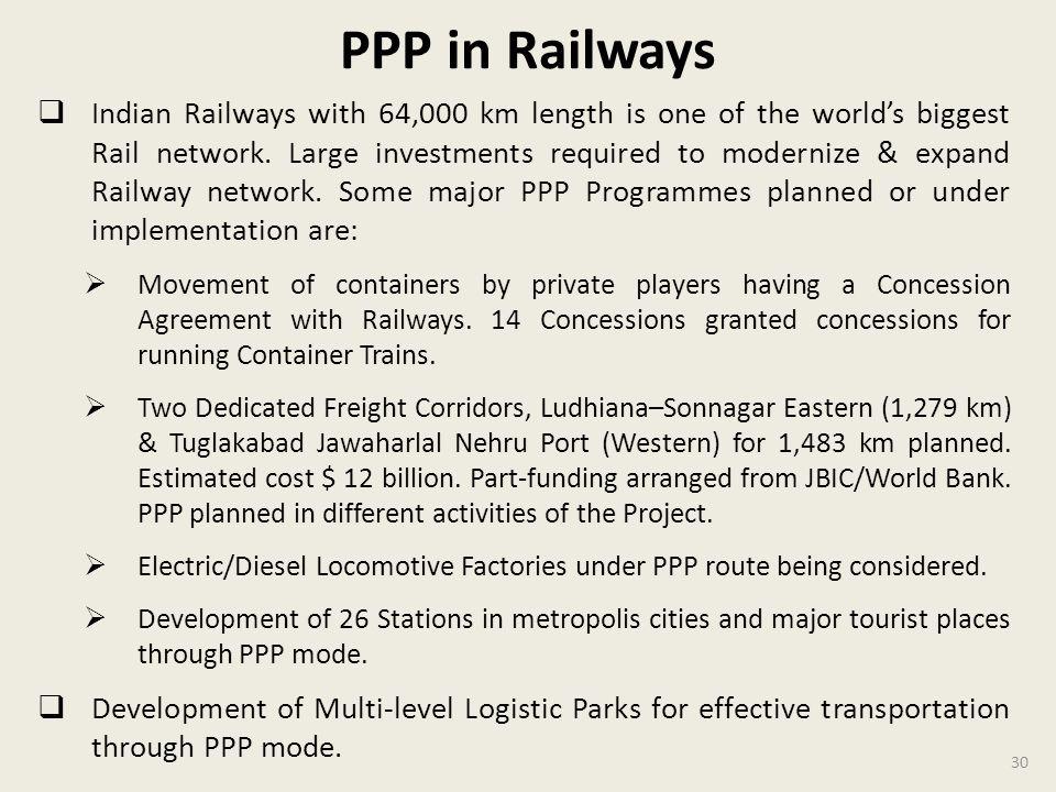 PPP in Railways