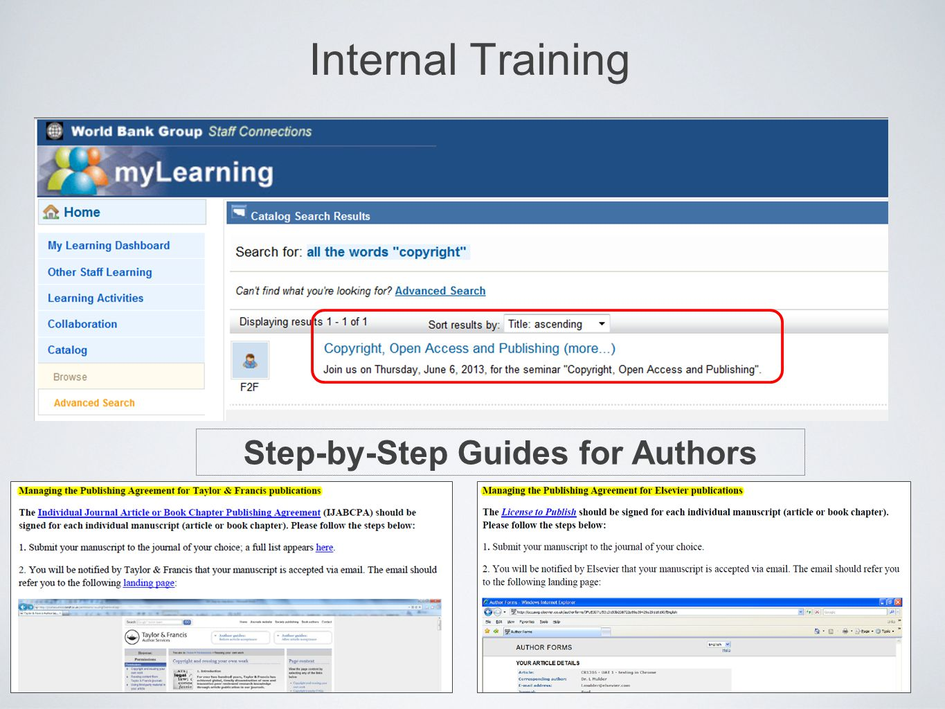 Step-by-Step Guides for Authors