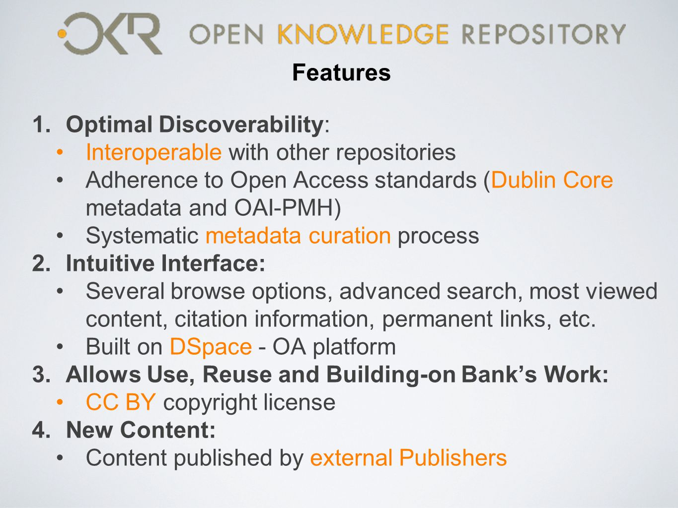 Features Optimal Discoverability: