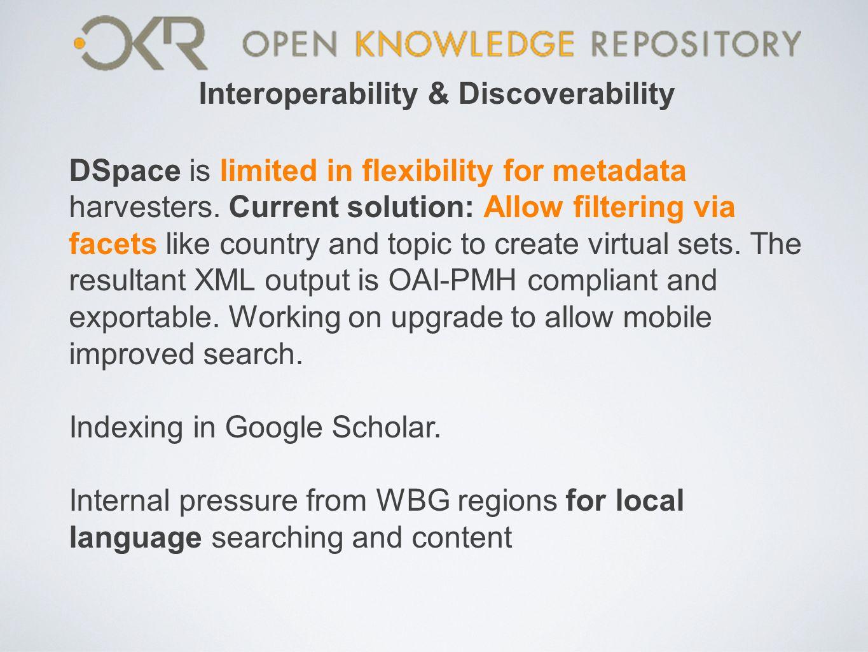 Interoperability & Discoverability