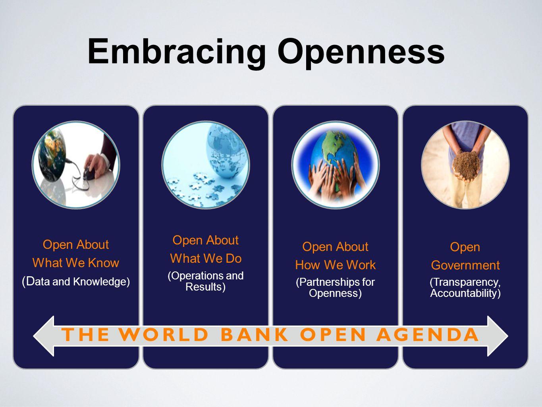 THE WORLD BANK OPEN AGENDA