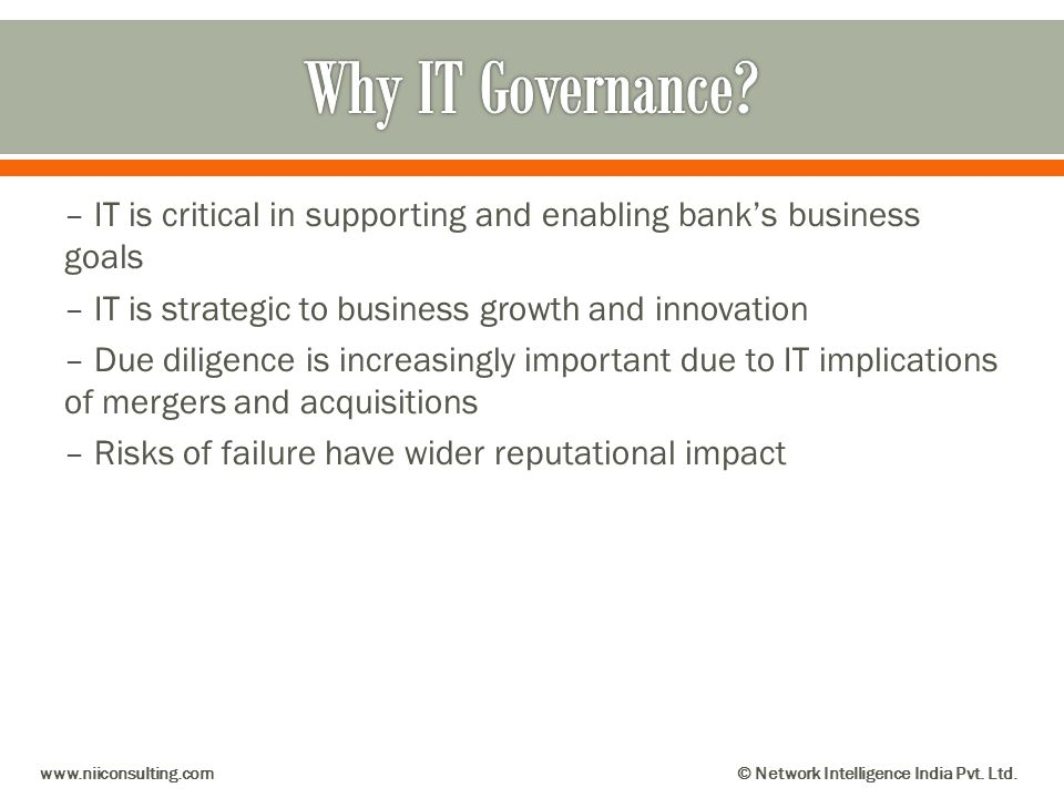 Why IT Governance