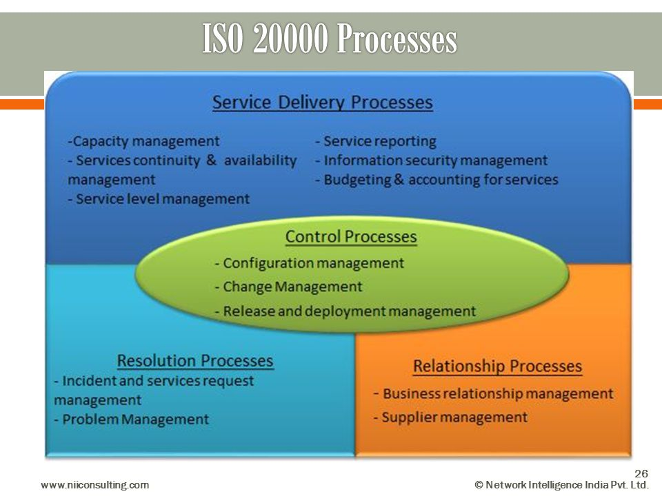 ISO 20000 Processes www.niiconsulting.com