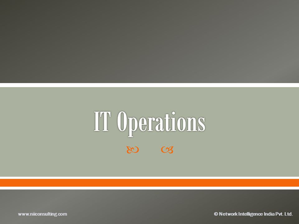 IT Operations www.niiconsulting.com