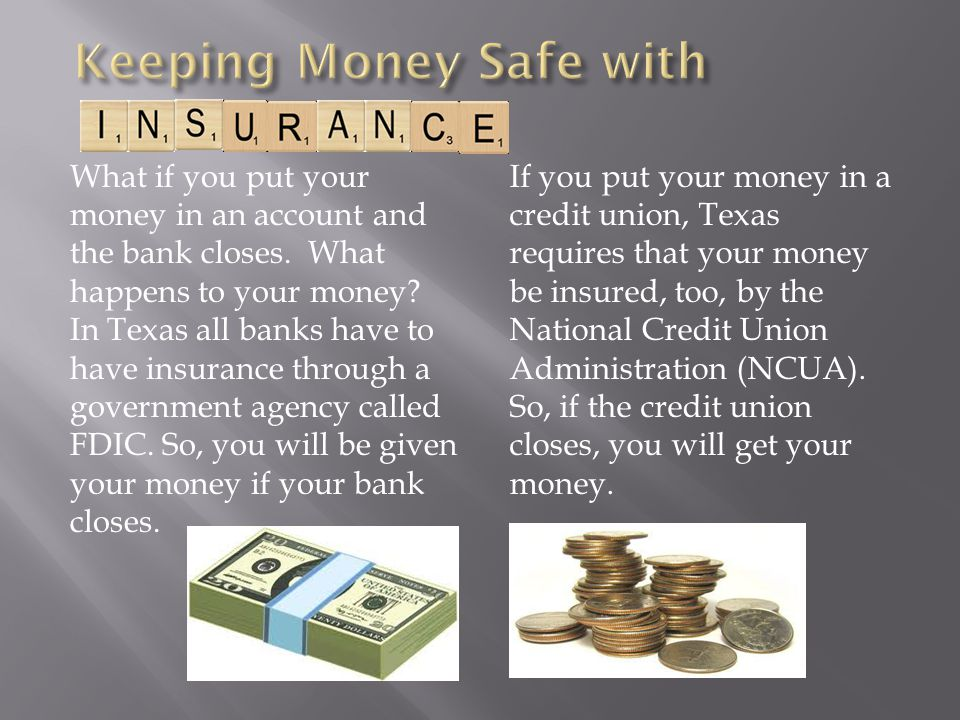 Keeping Money Safe with