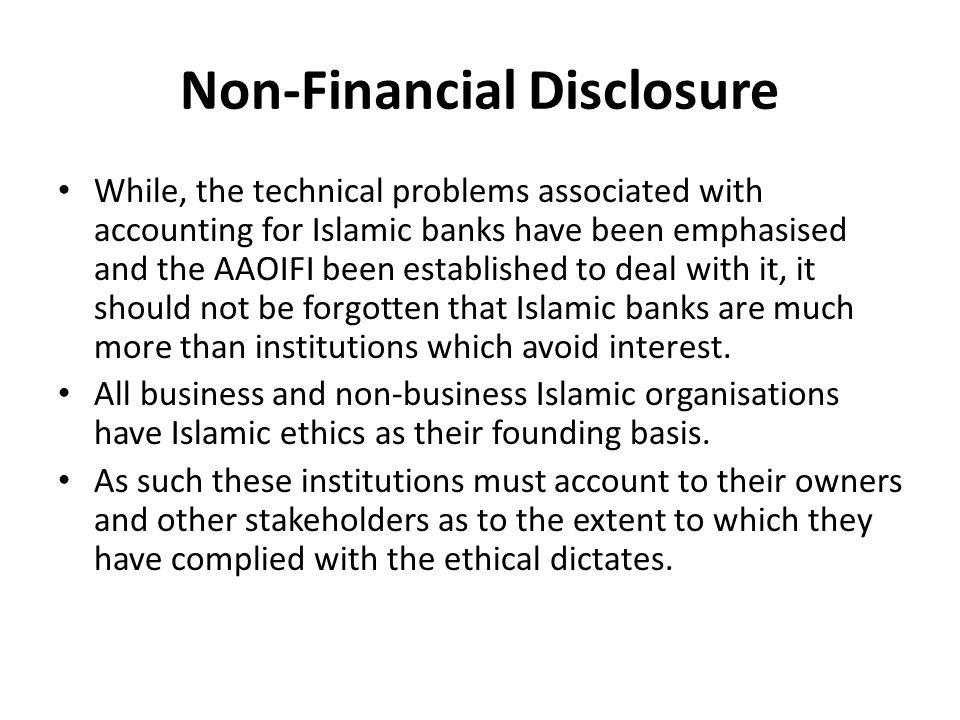 Non-Financial Disclosure
