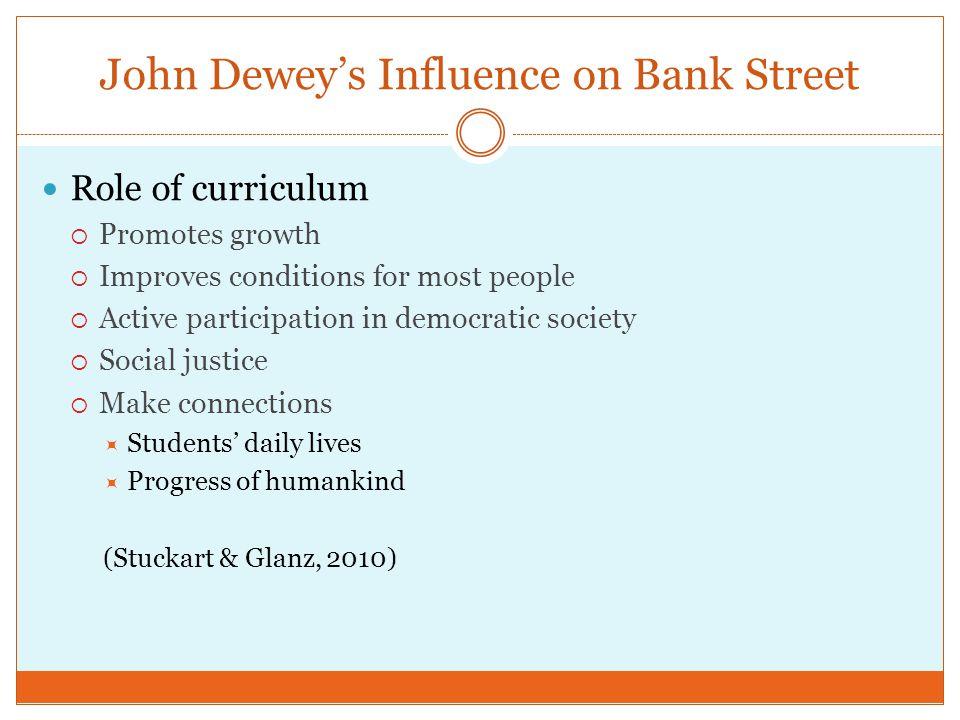 John Dewey's Influence on Bank Street