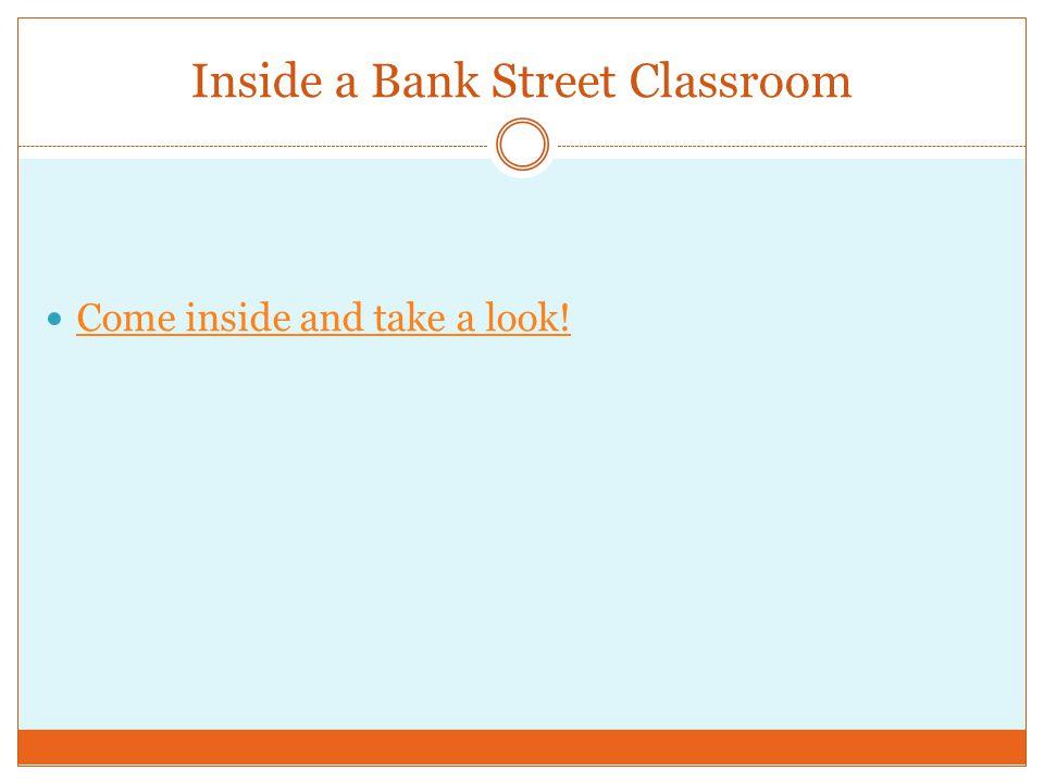 Inside a Bank Street Classroom