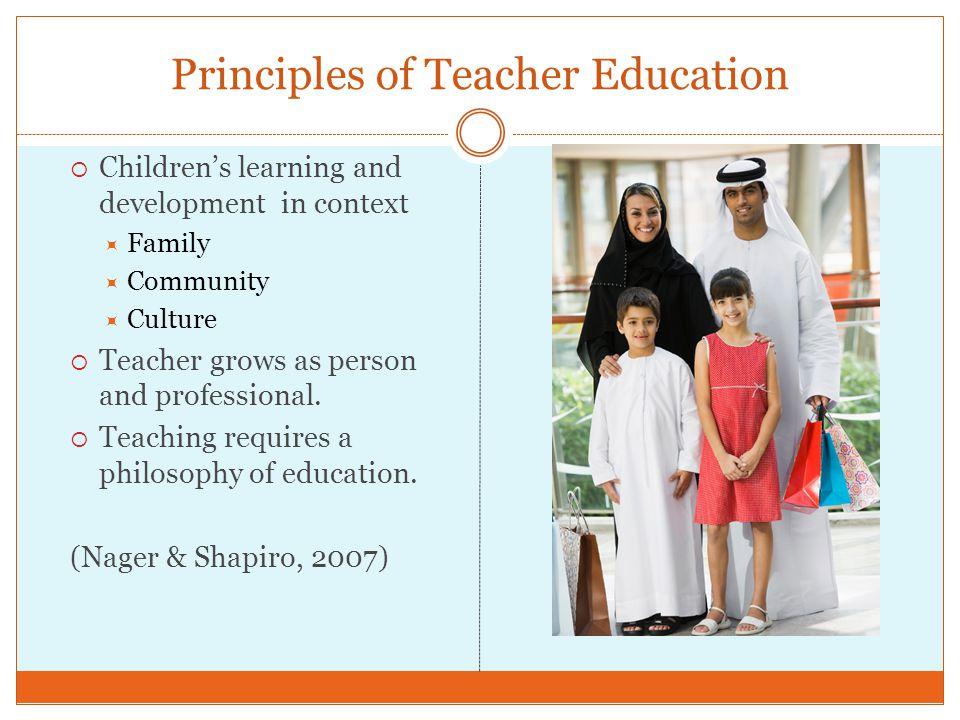 Principles of Teacher Education
