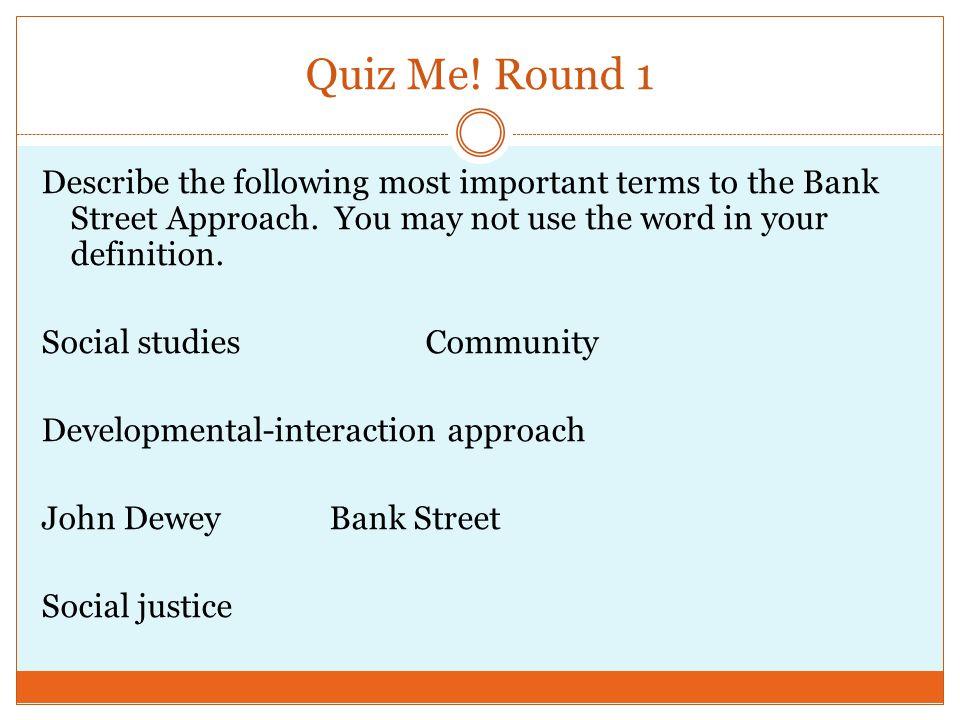 Quiz Me! Round 1