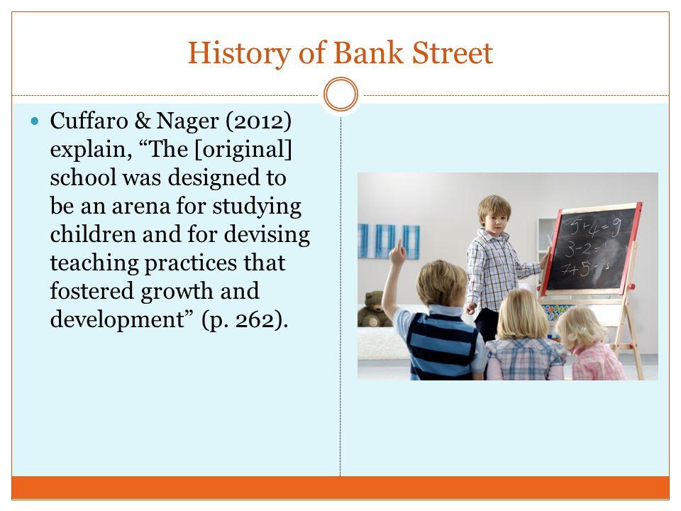 History of Bank Street