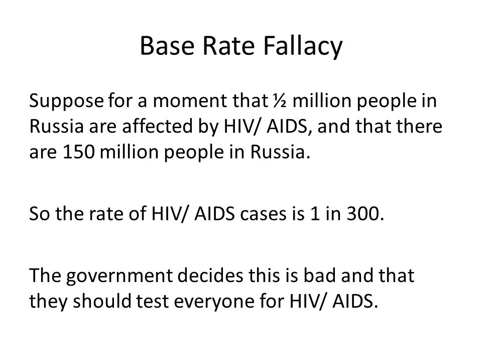 Base Rate Fallacy