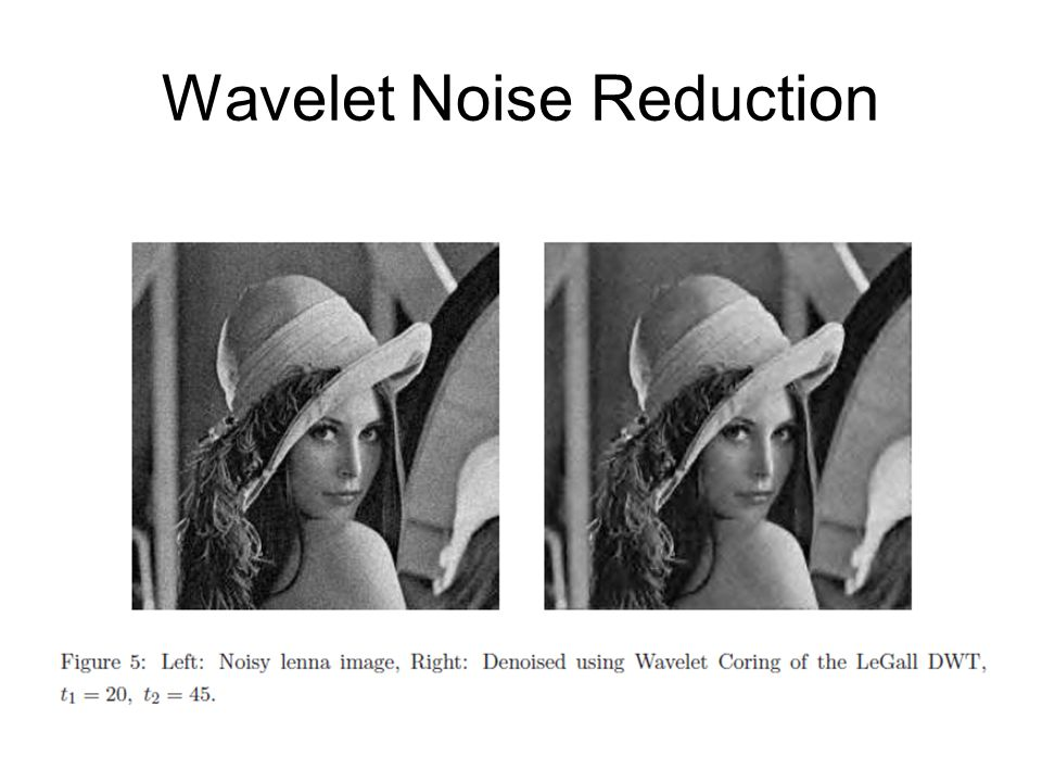 Wavelet Noise Reduction