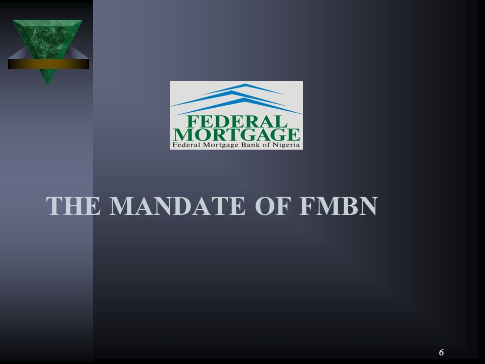 THE MANDATE OF FMBN