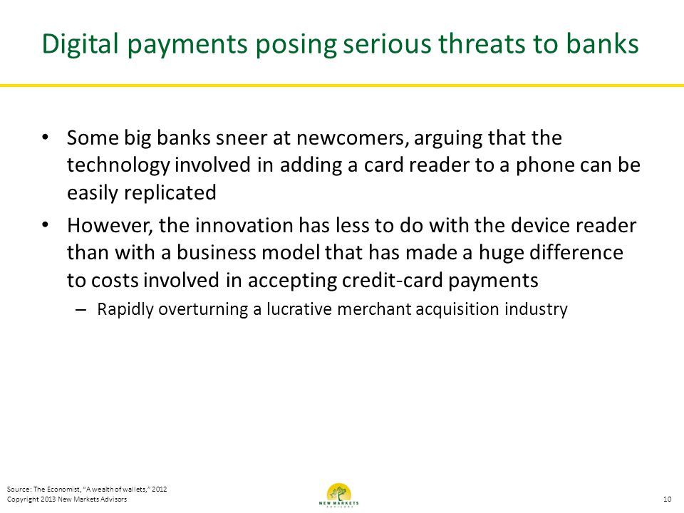 Digital payments posing serious threats to banks