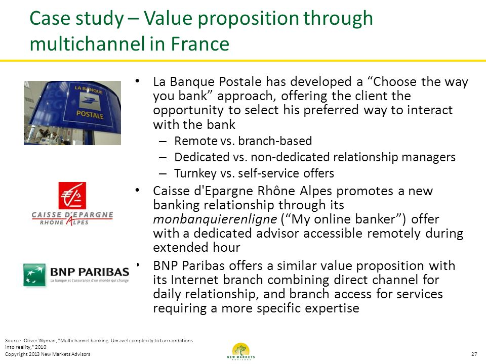 Case study – Value proposition through multichannel in France