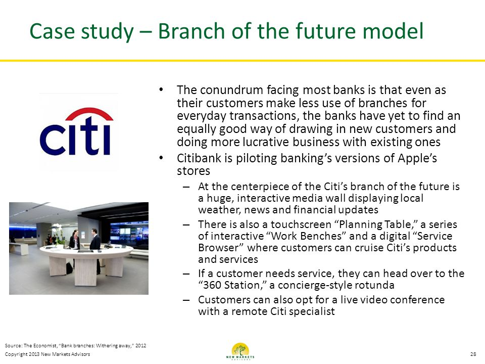 Case study – Branch of the future model