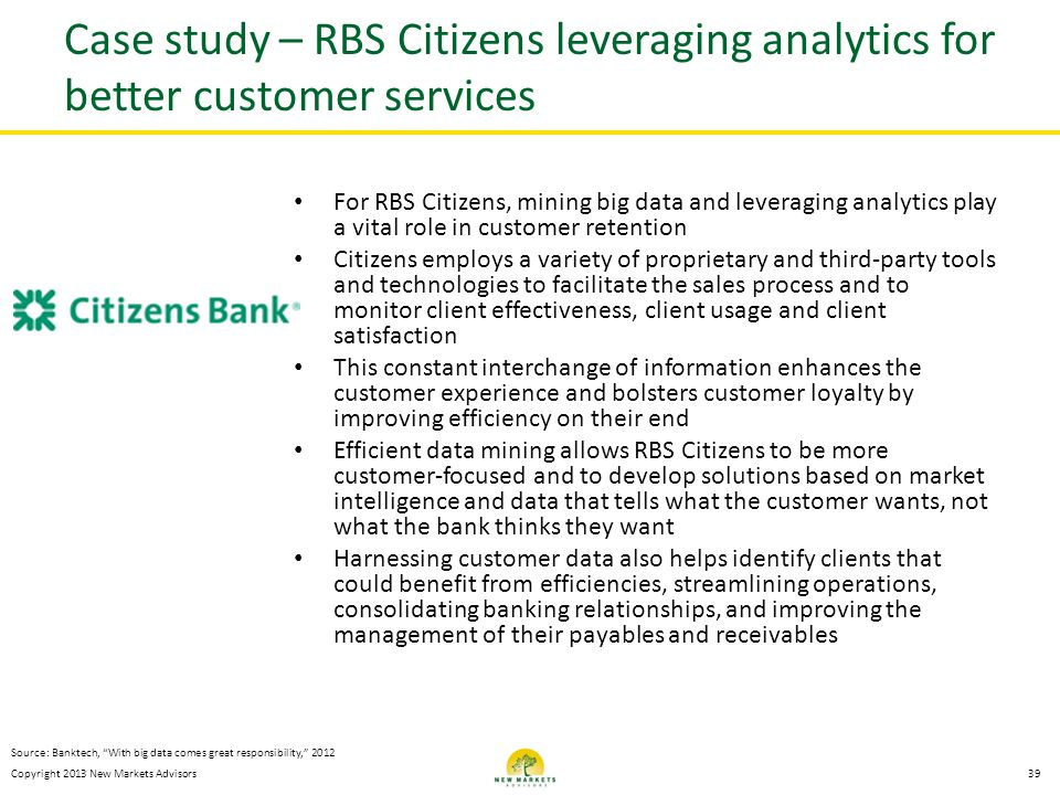 Case study – RBS Citizens leveraging analytics for better customer services