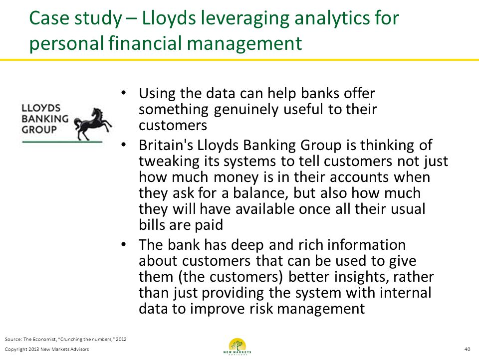 Case study – Lloyds leveraging analytics for personal financial management