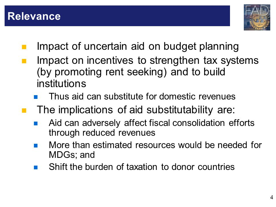 Impact of uncertain aid on budget planning