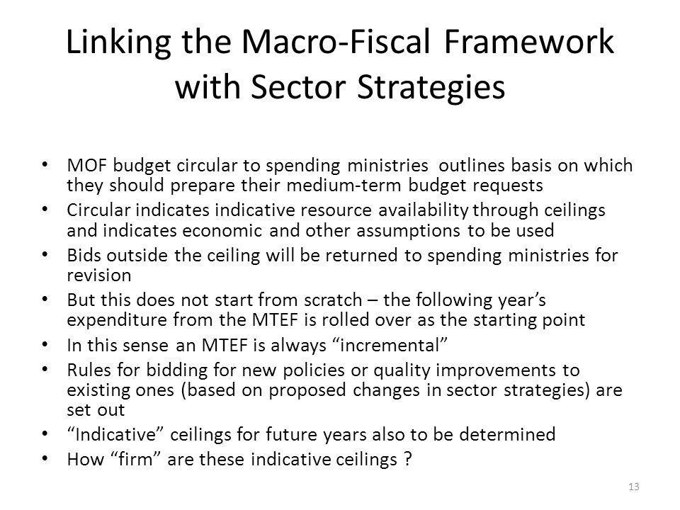 Linking the Macro-Fiscal Framework with Sector Strategies