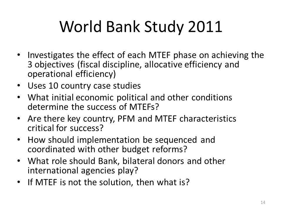 World Bank Study 2011