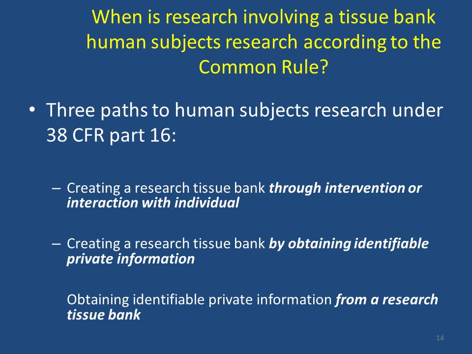 Three paths to human subjects research under 38 CFR part 16:
