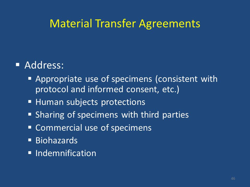 Material Transfer Agreements
