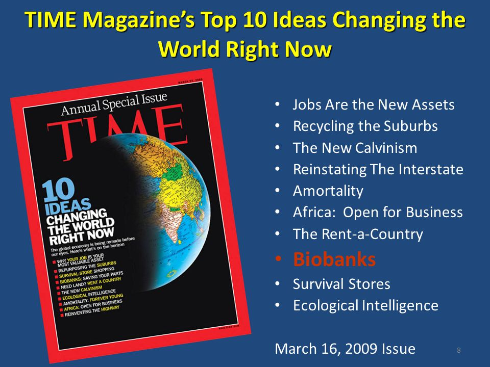 TIME Magazine's Top 10 Ideas Changing the World Right Now