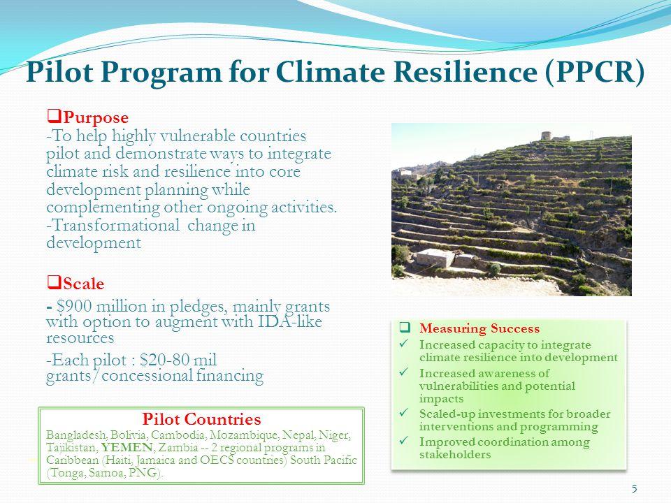 Pilot Program for Climate Resilience (PPCR)