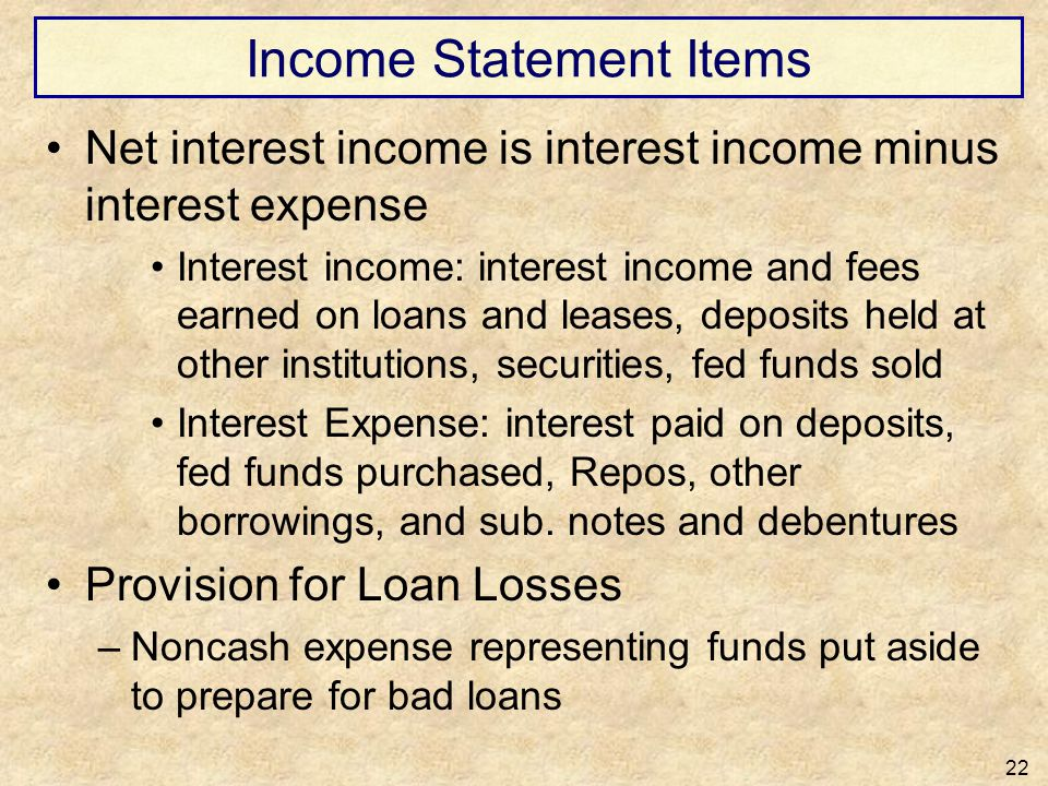 Income Statement Items