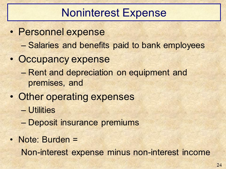 Noninterest Expense Personnel expense Occupancy expense