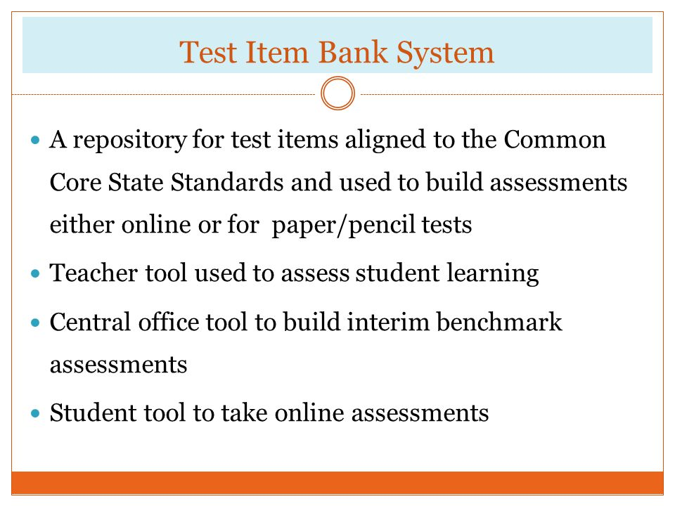 Test Item Bank System