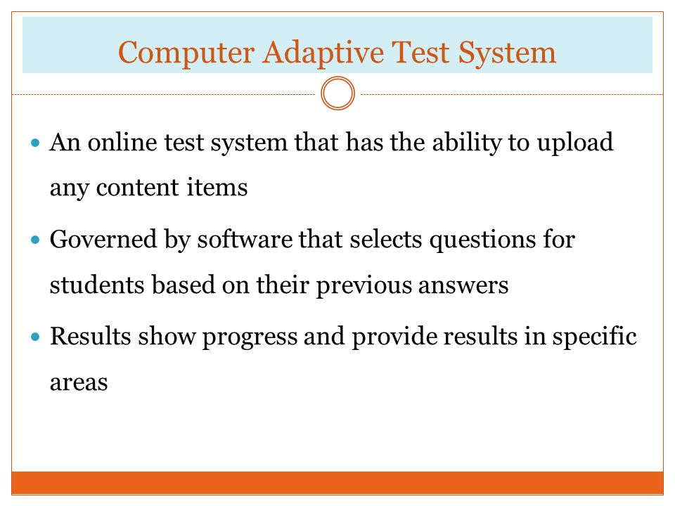 Computer Adaptive Test System