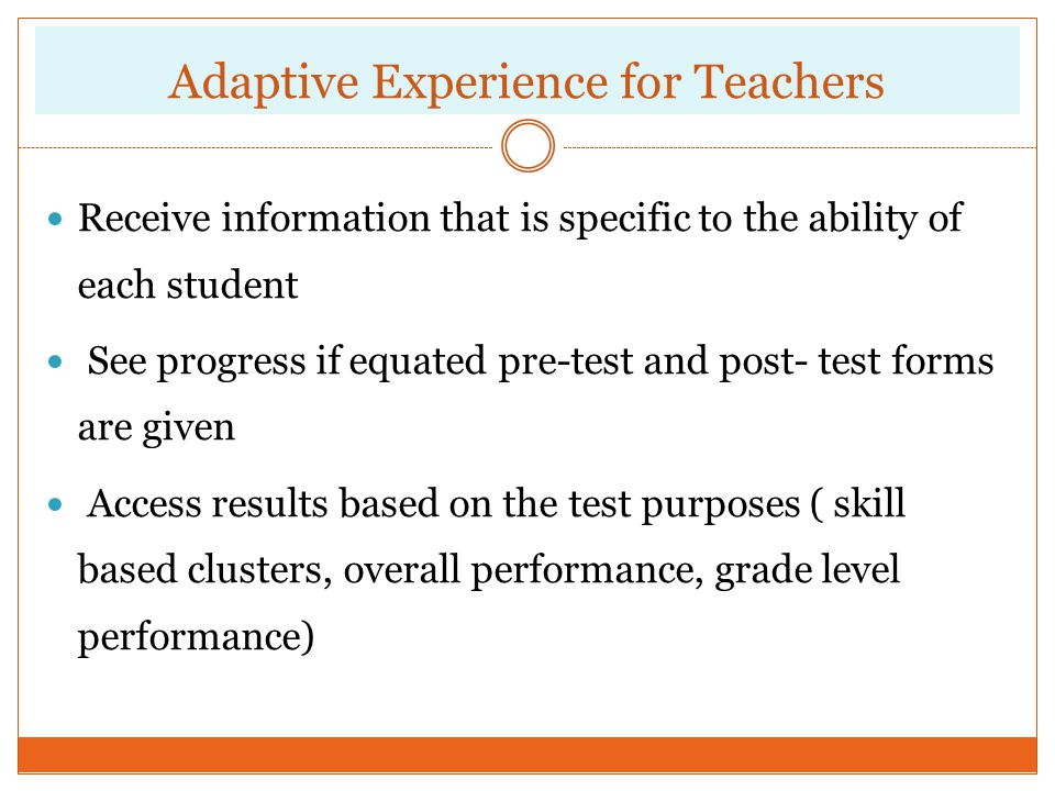 Adaptive Experience for Teachers