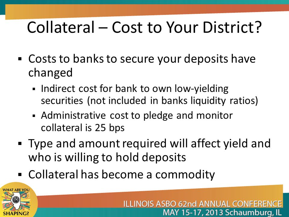 Collateral – Cost to Your District