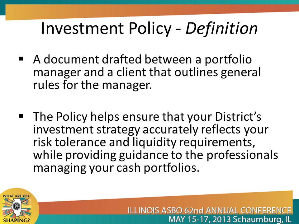 Investment Policy - Definition