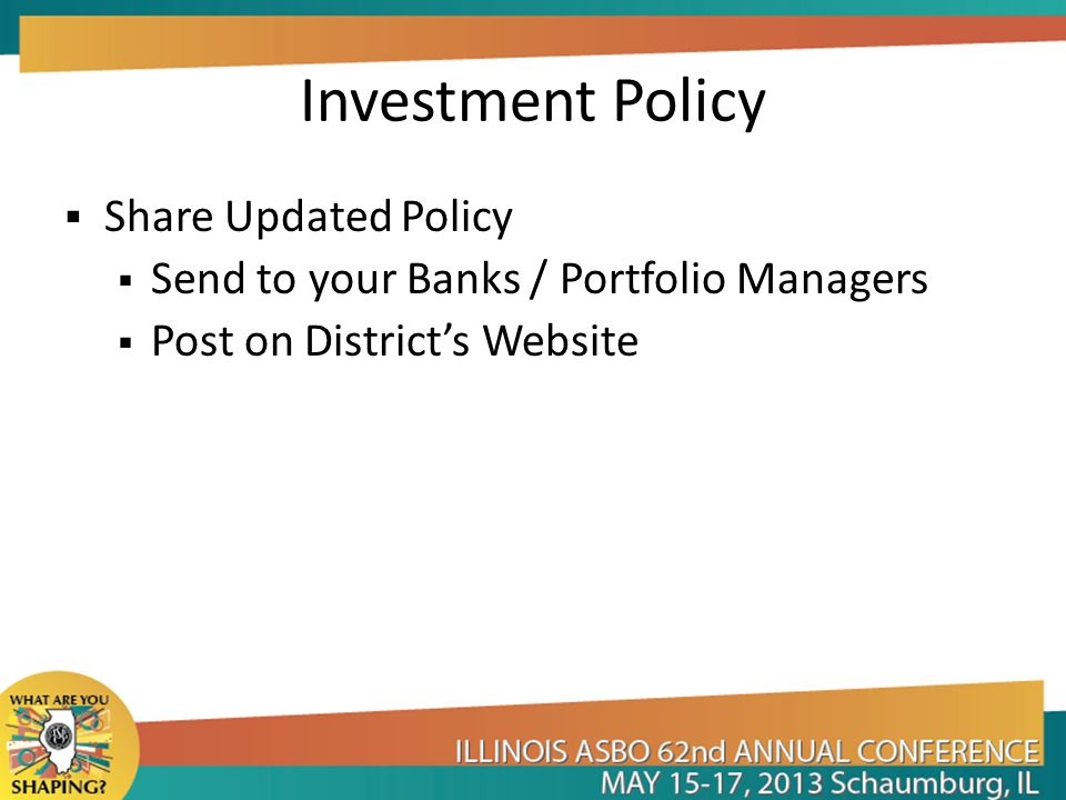 Investment Policy Share Updated Policy
