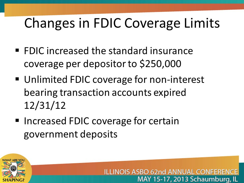 Changes in FDIC Coverage Limits