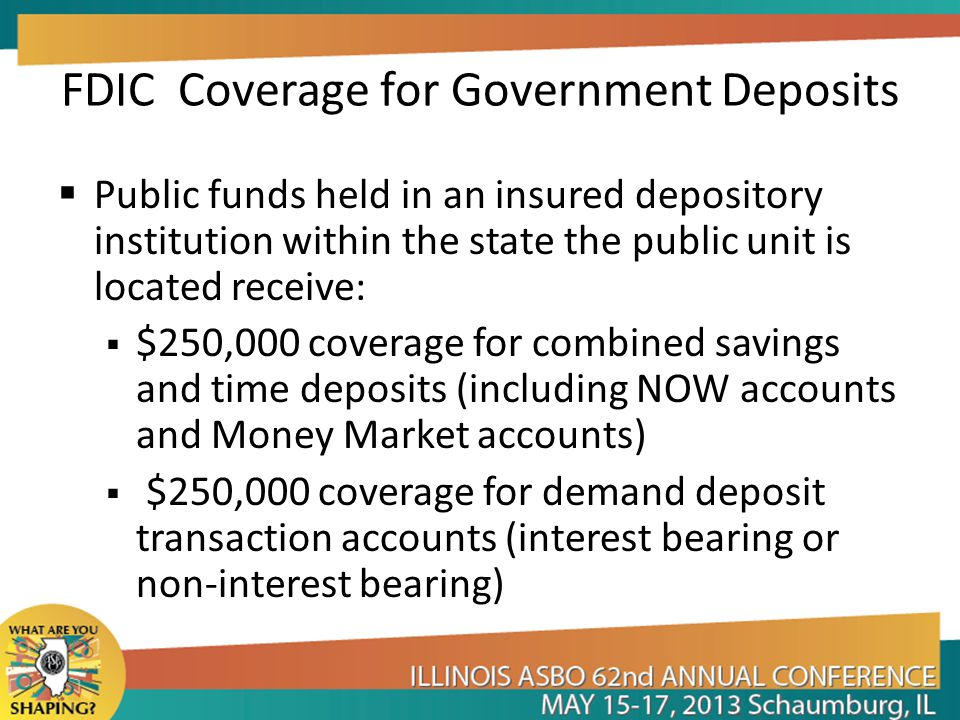 FDIC Coverage for Government Deposits