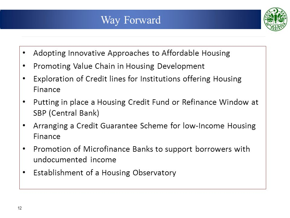 Way Forward Adopting Innovative Approaches to Affordable Housing