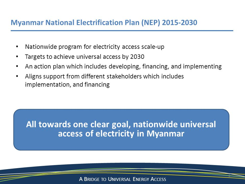 Myanmar National Electrification Plan (NEP) 2015-2030