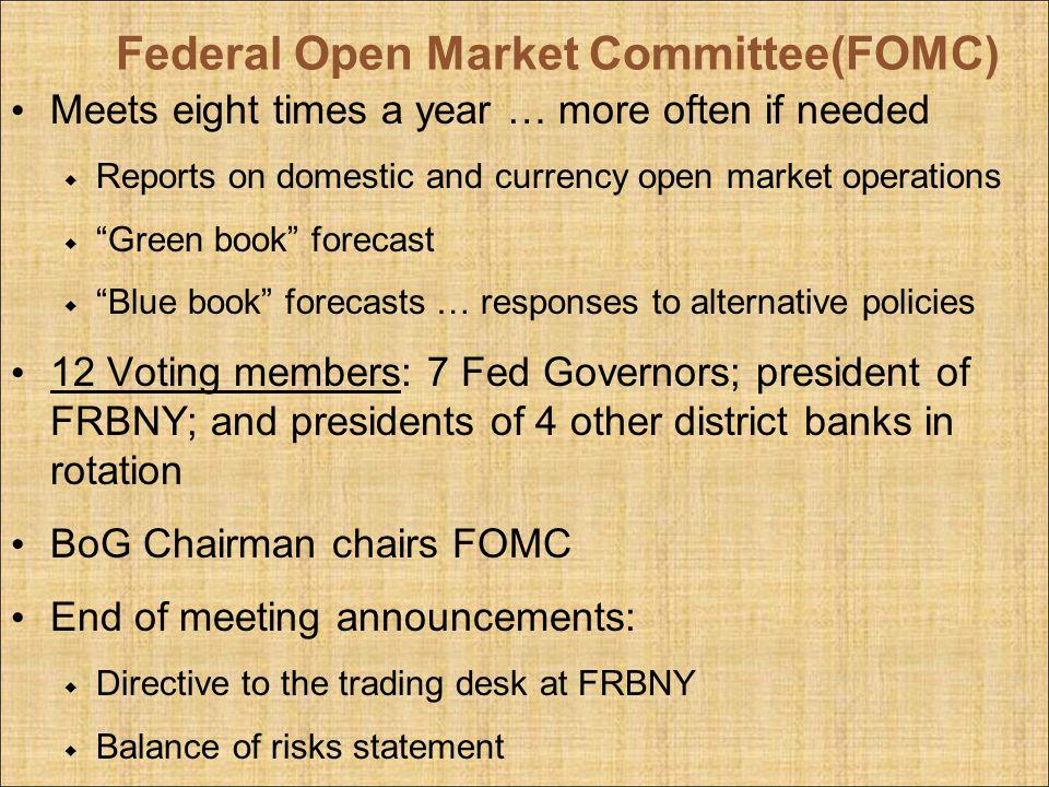 Federal Open Market Committee(FOMC)
