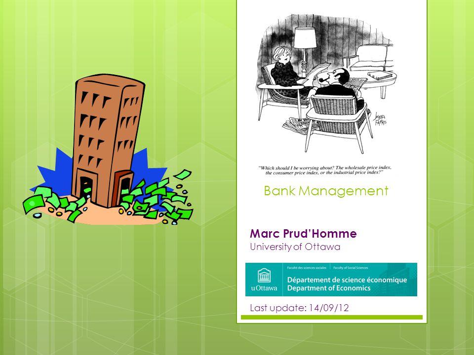 Marc Prud'Homme University of Ottawa Last update: 14/09/12