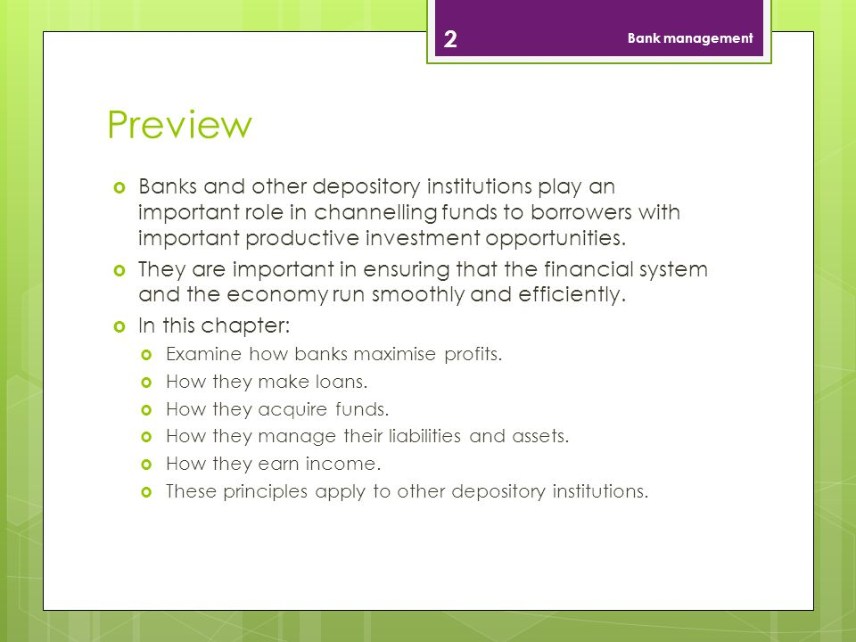 Bank management Preview.